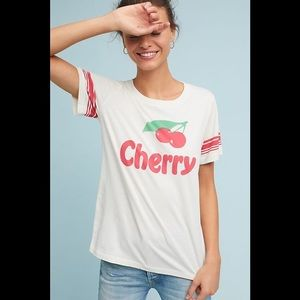 Anthropologie Sol Angeles Cherry Graphic Tee